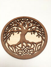 Tree of Life Altar Tile Wicca Wooden Altar Plate Paten Plaque Tools Wall Hanging