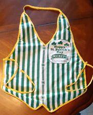 Mickey'S Malt Liquor Collectors Vintage St. Patricks Day Apron