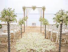Sandy Beach Wedding Scene Flowers Pillar 10x8FT Photo Background Vinyl Backdrop
