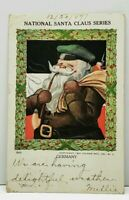 Christmas GERMANY National Santa Claus 1907 Dubuque to Chicago Postcard J7