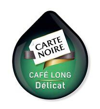 8 x Tassimo Carte Noire Café Long Awkward Loose T Discs - 8 boissons cafe Delicat