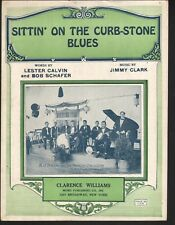Sittin On The Curb Stone Blues 1923 A J Piron Sheet Music