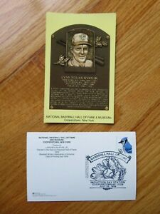 NOLAN RYAN Induction HALL OF FAME Plaque July 25, 1999 CANCELED Stamp RANGERS