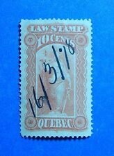 1871 10c CANADA QUEBEC LAW REVENUE VD # QL15 B # 15 USED                 CS32709