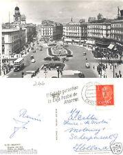 ANTIGUA POSTAL MADRID PUERTA DEL SOL OLD POSTCARD POSTKARTE              CC00394