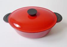 Cocotte le creuset rouge en fonte émaillé design années 70 70's vintage