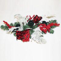 Premier Navidad Centro de Mesa Decoración 60cm - Lazo Rojo DF175154