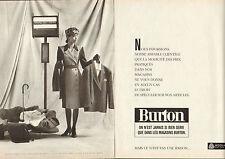 Publicité 1988  (Double page)  BURTON magasin pret à porter PURE LAINE WOOLMARK