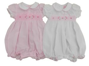 BNWT Baby Girls spanish style summer all in one smocked romper outfit clothes