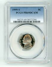 1999 S JEFFERSON NICKEL 5C PCGS PR69DCAM  38572294