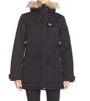 Fjallraven Nuuk Black Parka Coat Jacket Women's Size Small 2240