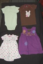 Mixed lot -4 baby girl items Carter's Size 3 Months