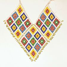 Belly Dance ATS Tribal Beaded NECKLACE Kuchi Afghani 806k2