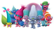 "Trolls Characters Iron On Transfer 4""x7.25"" for LIGHT Colored Fabric"