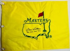 STEVE WILLIAMS HAND SIGNED AUTOGRAPH UNDATED MASTERS FLAG COA TIGER WOODS GOLF