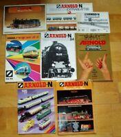 8x Arnold Katalog 74/75 76/77 rapido N-Bahn Modellbahn Prospekte Gesamtkatalog