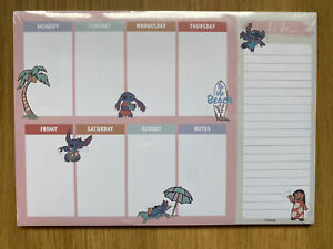 PRIMARK Disney Lilo And Stitch Weekly Planner To Do List Pad NEW DESIGN