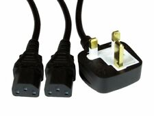 2 M UK Rete Elettrica A 2 X IEC (C13) Splitter Cavo Di Alimentazione Fusibile 13 A e 10 A tipo Kettle piombo
