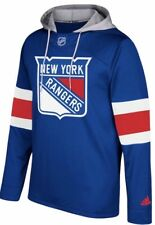Adidas New York Rangers Jersey Pullover Hoodie Size XL Mens Blue Red White