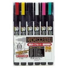 Bandai Gundam Marker Paint Color Pen Gms110 Ultra Fine Slight Six Colors Set