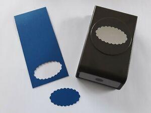 Stampin up ✿ Stanze Handstanze Wellen Oval 5x3 cm ✿ Stanzer guter Zustand
