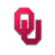 New NCAA Oklahoma Sooners Car Truck Aluminum Color 3-D Sticker Decal Emblem