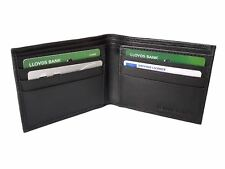 New Mens Black Leather Credit RFID Card Holder Wallet ID Sheep Nappa