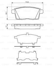 Bremsbelagsatz, Scheibenbremse für Bremsanlage Hinterachse BOSCH 0 986 494 376