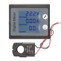 AC 80-260V 100A Digital Display Panel Meter Voltmeter Ammeter Power Energy Gauge