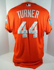 2018 Miami Marlins Jacob Turner #44 Game Used Orange Spring Training Jersey