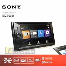 "Sony XAV-W651BT 6.2"" Double DIN NFC Bluetooth DVD USB Aux Car Stereo Receiver"