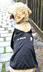 New Zealand Kiwi Black Rugby Dog Clothes shirt Jersey xs 20cm - xxxl 50cm - NEW
