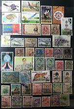 THAILANDIA  Selezione 47 valori usati TUTTI DIVERSI come da foto