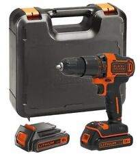 BLACK+DECKER BDCHD18KB-GB 18V Cordless Hammer Drill With Case & 2 Batteries.NEW!
