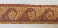 "Swirl Wave Wallpaper Border Russet Paint Speckles Splatter 2 3/4"""