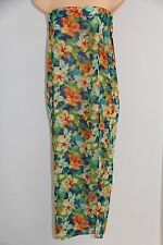 New Miken Swim Swimsuit Cover Up Dress Skirt Size L TRG ORG Green