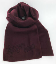 Burgundy Fleece Music Notes Winter Scarf, Laser Etched, Men's or Women's, Maroon