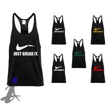 Just Break It Workout Training Men Gym Motivation String Tank Top TM04