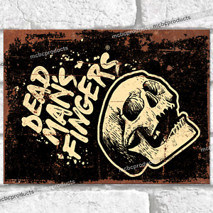 DEAD MANS FINGERS Metal Signs Vintage Retro Wall Plaque Garage Shed Rum Tin Sign