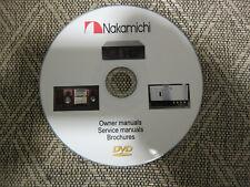 Nakamichi Audio Repair Service Schematics manuals recorder on dvd in pdf format