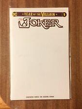 The Joker Villain of the Year #1 Blank Variant NM