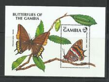GAMBIA. Año: 1991. Tema: FAUNA. MARIPOSAS DE GAMBIA. (II).