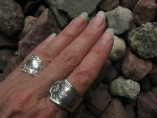 Grecian Design Antique Spoon Ring Size 9 R273  Western Skies Silver