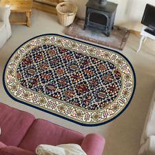 Teppich Orientteppich Klassisch Wohnzimmer Orientalisch Perser Tamir Blau Oval