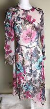 TOPSHOP Floral Chiffon Prom Dress One Shoulder Asymmetrical Hem Lavender  Sz 10