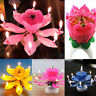 Musical Candle Lotus Rotating Candle Lights Birthday Party Decoration Gift