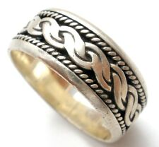 Sterling Silver Braided Ring Wide Band Size 6 Vintage Stackable 925 Jewelry