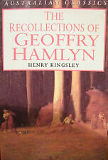 Henry Kingsley  The Recollections Of Geoffry Hamlyn Softcover