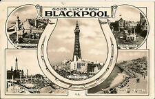 BLACKPOOL( Lancashire) : Good Luck from Blackpool multiview RP-BALMFORTH