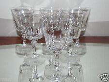 Belle série N°3 six verres à vin blanc Porto cristal d'Arques service Versailles